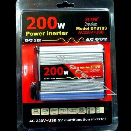 Power Inverter 12V DC To 110v 200W Adapter USB DY-8103 Brand new and free shipping(China (Mainland))