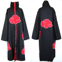 Wholesale Freeshipping-anime products  Naruto akatsuki cosplay costume cloak set Sasori