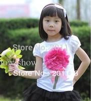 108Free shipping Girls' short sleeve T-shirts girls tops retail sales