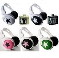 New Mix Style Star Headphones Headset For MP3 PSP DJ