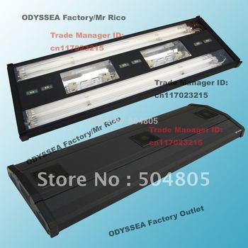 "ODYSSEA 40""(100cm) Aquarium Fish Tank Metal Halide/HQI Lighting +T5 Actinic Blue+Bluemoon LED, fit tank 100cm, MHA Series,Black"