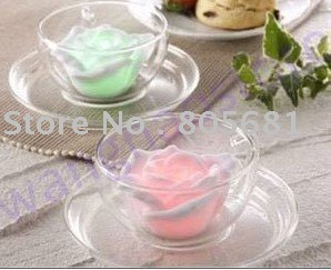 Changing Color Floating Rose Flower LED Candle lights