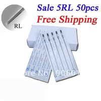 Disposable Tattoo Needles Premade Sterile 5RL Round Liner 50pcs Tattoo Needles Free Shipping