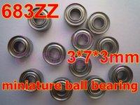 High Quality 683ZAZZ AX3ZZ 683-2Z ULZ307 38M3SS 3X7X3 metric miniture shielded deep groove ball bearing