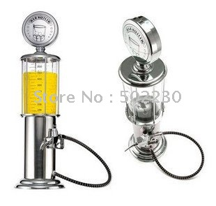 10pcs/lot SILVER GAS PUMP LIQUOR ALCOHOL DISPENSER NEW /beer Gas Station/beer dispenser(China (Mainland))