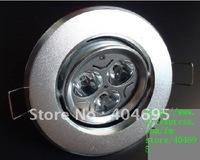 Free shipping+ 3W ceiling LED Spotlight 3 * 1W High Power LED Spotlight 10pcs