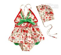 FREE SHIPPING--Baby girls 3-piece set Bikini Swimwear Baby girls Bikini Swimwear Girls bathing suit baby-clothing 5pcs/lot