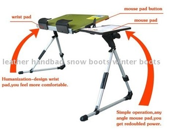 Free shipping,Wholesale adjusting laptop desk double fan,folding aluminum computer table,computer desk,0.8KG/5colors/