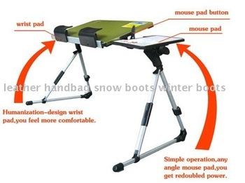 Free shipping,Wholesale adjusting laptop desk double fan,folding aluminum computer table,computer desk,0.8KG/5colors/