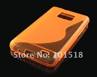 10pcs/lot Free shipping New S Line TPU Silicone Gel case for Samsung Galaxy S II i9100