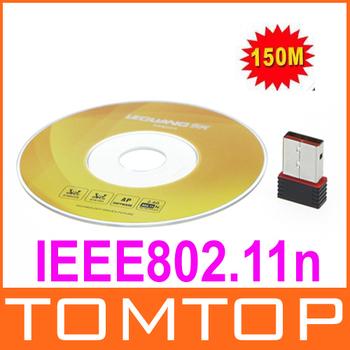 Portable Wireless N 802.11n NANO mini USB Wifi Adapter Network Card 150M 100pcs/lot
