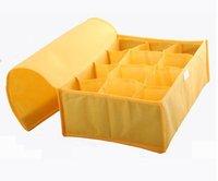 HOT SALE storage bags cases stool underwear storage box Organizer Holder Box Closet BRA storage box with cover 12 lattices