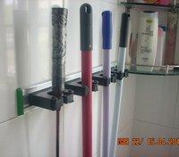 Flexi Grip 3-station Broom holder. Takes 20-30mm handles.black