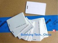100pcs 125KHz  EM Proximity ID Card Clamshell RFID EM4100 and compatible Injek Printing Waterproof no. Access Control Staff Time