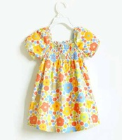 Wholesale Kids Summer Wear Baby floral Cotton Dresses Free Shipping