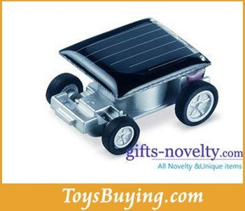 wholesale 300pcs/lot novelty solar mini car/world smallest mini solar car mini racing car toy worlwide free shipping