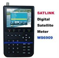 2pcs/lot Satlink WS 6909 DVB-S & DVB-T Combo, DIGITAL SATELLITE FINDER METER & TERRESTRIAL SIGNAL FINDER
