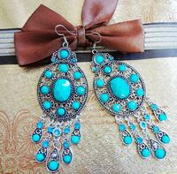 Fashion imitate gemstone lady's alloy earring(2color mix) FE-044