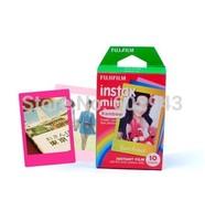 wholesale 30% off  free shipping 10box /lot 10 Fuji Instax Mini 8 Film Rainbow Fujifilm 50s Mini 90 Instax Share SP1 Printer