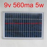 9V 560mA 5W solar panel module solar power panels 5watt charge 6v battery polycrystalline solar cells