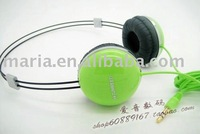 free shopping+10sets/lot Stereo earphone / headband Earphone,headphone/earpiece for ipod, iphone ,coputer,mp3,game player CD/DVD