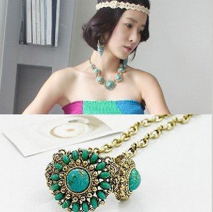 New Hot!Sunflower retro fashion jewelry luxury bohemian necklace models/ Free Shipping!(China (Mainland))