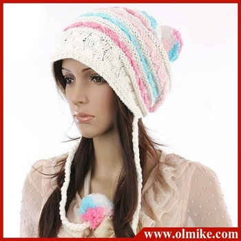 East Knitting New Lady's Invincible lovely Autumn & winter warm hats,Women knit cap, Multicolor,HAND Knitted free shipping UW031