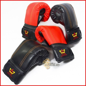 Free Shipping 10 pairs / lot Boxing / MMA / Martial Art Heavy Bag Gloves PU Leather Size Free 2 Colours available !!