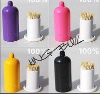 freeshipping lovely condom shape Tumbler Toothpick box/tumbler/toothpick holder/toothpink case