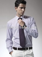 Free Shipping 100PCS (each shirt Free 1pcs tie ) the manufacture, free embroidery LOGO, men's business shirts
