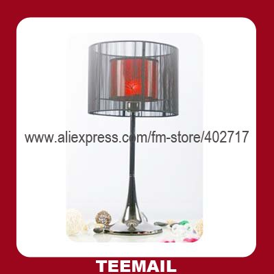 desk lamp with fashion metal and cloth material for livingroom in retail selling(China (Mainland))
