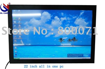 22'' all in one pc, thin clients,panel pc,touch screen pc ,Atom D525 core dul CPU,DDR3 ram,