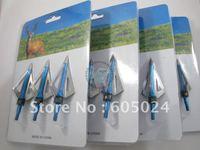 12pcs/lot New aftershock hunting arrow head broadheads 100GR 3-blades Free shipping