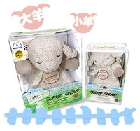 new arrive wholesale  free shipping 2pcs/lot help baby sleep gift   designed small sleep sheep travel Plush Baby Toys