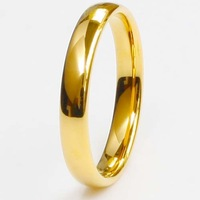 His Her 18K Gold Plated Tungsten Carbide Comfort Fit Wedding Band Ring w/ Box Size 5-12 Free Shipping