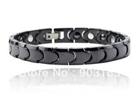 "Wholesale Popular hot sell Guaranteed 100% Common Ceramic Bracelet inlay Stone Health 8.5"" + free shipping"