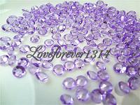 10000pcs (10000 pcs=10 pack) 1/3 Carat (4.5mm) LAVENDER Diamond Confetti Wedding Party Favor Favour Decoration