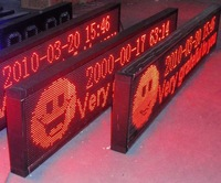 led signs,red color,one year warranty,TP10-R-12*2  198*38*7.5cm