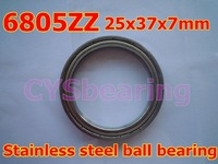 whosale and retail quality stainless steel 440C S6805 SS6805 61805 6805 6805ZZ 25X37X7 mm deep groove ball bearing