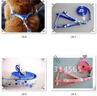 Free Shipping 20 pcs/lot Pet Harness Dog Leash Dog Thicker Rope+ Collar  For Big Dog Products S,M,L