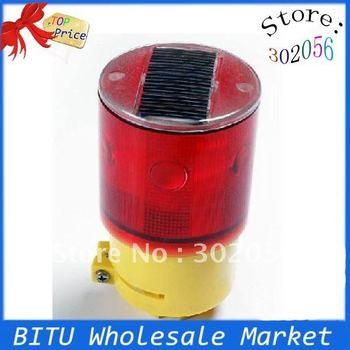 10pcs/lot LED solar traffic warning light TY020