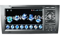 Hot selling Car DVD Playe for AUDI A6 with DVD/GPS/DTV/Radio/Bluetooth/MP4/MP3/WMA/JPEG/Free gift of 2GB SD card with IGO map