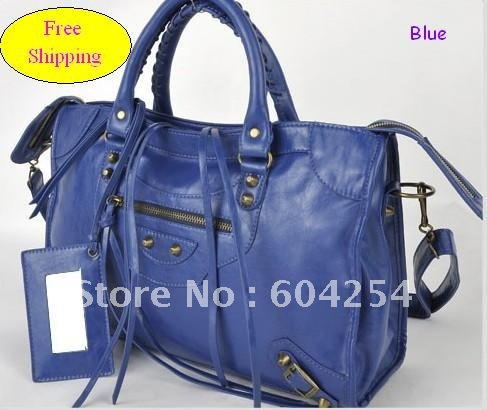 Promotion!!! 7 Colors Available! Lady&#39;s Motorcycle Bag/Bike Bag/Street Bag, Fringed Laces with Zipper Closure. blue corlor(China (Mainland))