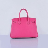 2014 brand name women 30cm BrikinDesign Tote bag cow leather with sheepskin lining NO.6088
