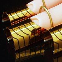 10 x reusable forms uv gel acrylic nail art tips Gold