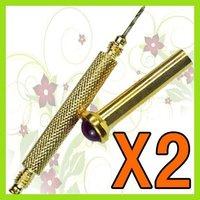KT017 Hand Dangle Drill Nail Art Tip Tool x2