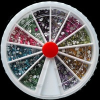 2400 Mix Rhinestones Gems 12 Color Nail Art 2mm Wheel Free shipping