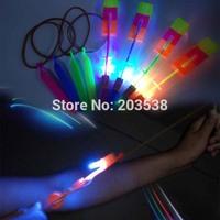 2014 Christmas Gift Newest Toy LED Amazing Flying Arrow Helicopter Flying Umbrella LED Toy LED Helicopter