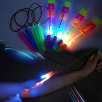 Free Shipping 2014 Christmas Gift Newest Toy LED Amazing Flying Arrow Helicopter Flying Umbrella LED Toy LED Helicopter