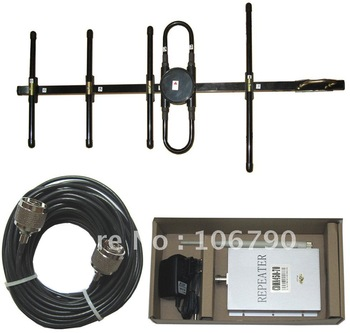 Suggest 80-250 square meters CDMA 3G 450MHz Cell phone signal booster repeater amplifier include 10m cables+2 Ant.
